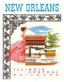 New Orleans-Steamboat Natchez Mississippi River Paddlewheeler - Illinois Central Railroad