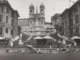 View of Piazza Di Spagna with Trinità Dei Monti