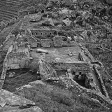 Ruins of the Lost City of the Incas Seen from Above  Machu Picchu  Peru