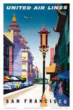 San Francisco  USA - China Town - United Air Lines