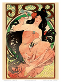 Job - Cigarette Rolling Papers Advertisement - Art Nouveau