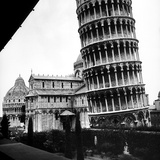 The Tower  One Arm of the Transept of the Cathedral and the Baptistry of Pisa