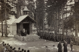 Pictures of War II: Italian Soldiers Participating in the Mass at the Chapel