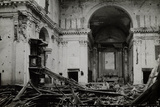 Church Destroyed by Italian Artillery Attacking Austro-Hungarian Troops During the First World War