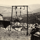 The Transport of a Wounded Prisoner by Way of a Mechanical Lift in the Asiago Plateau