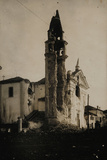 Church Destroyed by Italian Artillery Shooting at Austro-Hungarian Troops During WWI