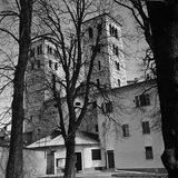 The Aspe-Side Bell Towers of the Cathedral of Ivrea  Turin