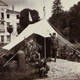 WWI: Acceptance Tent in Front of Villa Brazzà