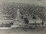 First World War: Piazza San Marco in Venice Photographed from an Airship of the Italian Army