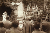 A Religious Ceremony at a Military Encampment on the Italian-Austrian Line During World War I