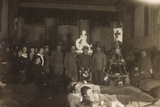 WWI: Group Portrait on Christmas Day at Villa Brazzà  Home to 17 of the Hospital of War