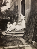 Pictures of War II: Red Cross Nurses and Soldiers in the Garden of a House in Vicenza