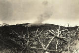 An Italian Bomb Explodes on Austrian Positions in Podgora