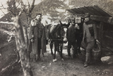 World War I: Italian Soldiers with a Donkey Near a Fountain on the Col Di Lana