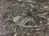 First World War: View of Verona with the Arena and the River Adige  Taken from a Blimp