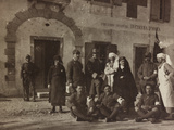Pictures of War II: Red Cross Nurses and Soldiers in Front of the Outpatient Infirmary