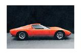 1971 Lamborghini Miura P400 S Watercolor