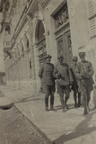 War Campaign 1917-1920: Group of Soldiers Walking in a Street in Gorizia