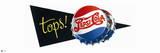 Tops! Pepsi-Cola Botle Cap Logo