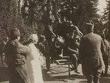 WWI: Departure of Some Soldiers from Villa Brazzà  Home to 17 of the Hospital of War