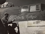 B25 Mitchell Bomber Leaving for Tokyo