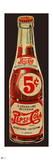 Vintage 1940s 5¢ Pepsi Bottle Cutout