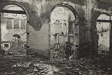 Udine  Interior of the Theatre Minerva Bombed
