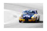 Porsche 911 on Race Track Watercolor