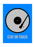 Stay on Track Vinyl 2 Reproduction d'art par NaxArt