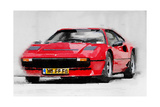 Ferrari 208 GTB Turbo Watercolor