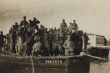 War Campaign 1917-1920: Group of Officers Aboard a Boat