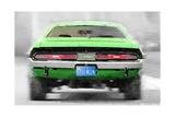 Dodge Challenger Rear Watercolor