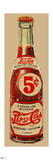 Vintage 1940s 5¢ Pepsi Bottle Cutout (Neutral Background)
