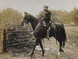 World War I: The British King George V (1865-1936) on Horseback