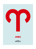 Aries Zodiac Sign Red