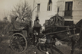 War Campaign 1917-1920: Soldiers Aboard a Horse-Drawn Carriage to Cavrie