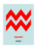 Aquarius Zodiac Sign Red