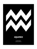 Aquarius Zodiac Sign White