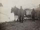 Pictures of War II: Italian Soldiers with the Wagon of the Red Cross