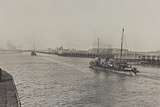 Military Ship in the Port of Ostend During the First World War