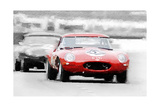 Jaguar E-Type Racing Watercolor
