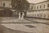 Pictures of War II: Red Cross Nurses in the Courtyard of the Orphanage  Vicenza