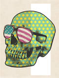 Polk-a-dot Skull in American Shades