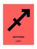 Sagittarius Zodiac Sign Black