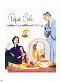 Pepsi - Couple at Dinner  1954 Ad