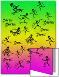 Human and Dog Skeletons Skateboarders and Warriors
