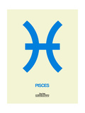 Pisces Zodiac Sign Blue