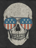 Skull and American Flag Shades