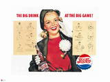 Pepsi - Big Drink at the Big Game  Vintage 1950's Ad