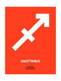 Sagittarius Zodiac Sign White on Orange